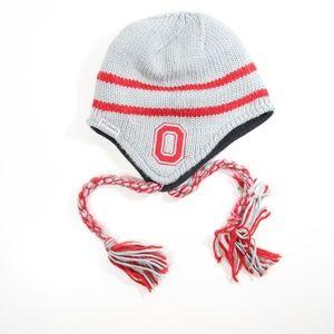 Columbia Ohio State Ear flap tassel knit beanie